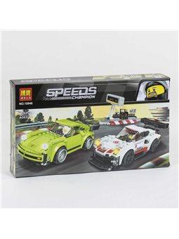 """Конструктор 10946 (36/2) Bela Speeds Champion """"Гоночные автомобили"""", 409 деталей, в коробке [74377]"""
