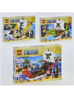 """Конструктор 66001-66002-66003 (60/2) """"Пираты"""" 3 вида, в коробке [58677]"""