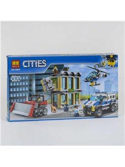 """Конструктор Bela Cities 10659 (18) """"Ограбление на бульдозере"""" 591 деталь, в коробке [81921]"""
