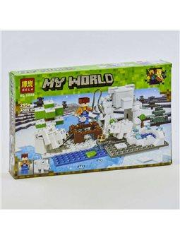 """Конструктор Bela My World 10960 (60) """"Зимняя рыбалка"""", 215 деталей, в коробке [73855]"""