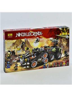 """Конструктор Jemlou Ninja Legend 20013 (12) """"Стремительный странник"""", 744 детали, в коробке [73917]"""