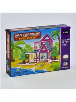 Конструктор магнитный JH 8815 (48) Пляжный домик, 38 деталей [73871]