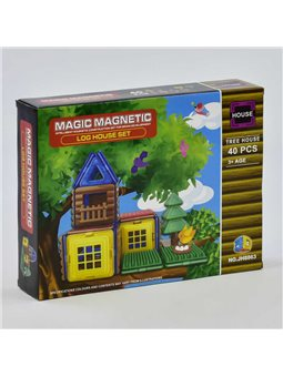 Конструктор магнитный JH 8863 (48) Домик на дереве, 40 деталей [73879]