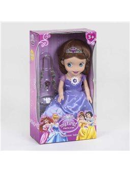 Кукла Принцесса ZT 8938 (24/2) с аксессуарами, свет, звук, светится платье, в коробке [81133]
