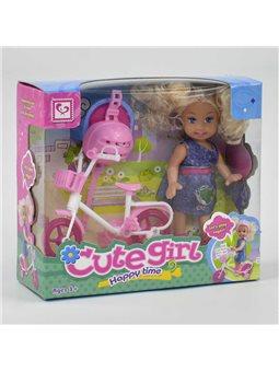 Кукла с велосипедом К 899-25 (96/2) в коробке [49154]