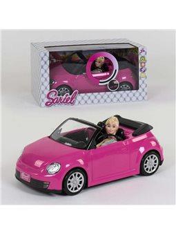 Кукла с машинкой 6633 (12/2) световые и звуковые эффекты, в коробке [82099]