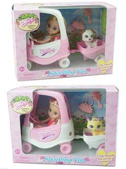 Кукла с машиной 57030 (48/2) 2 вида, в коробке [83001]