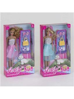 Кукла с питомцем 99028 (48) 2 вида, с аксессуарами, в коробке [82712]