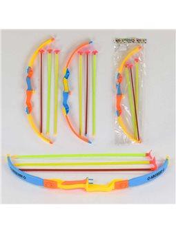 Лук со стрелами 600 (240) 3 цвета, в кульке [80570]