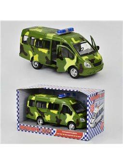 """Машина 9098 F """"Военная скорая помощь"""" (24/2) открыв. двери, свет, звук, на батарейках, в коробке [2705]"""