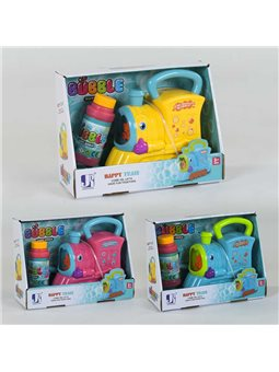 """Машина для мыльных пузырей """"Паровозик"""" P 8798 (72/2) 3 цвета, в коробке [78223]"""