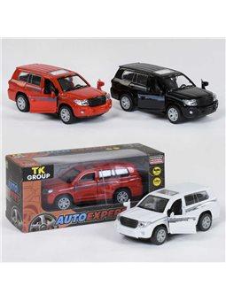 """Машина металлопластик S 22066 (96/2) """"TK GROUP"""" 3 цвета, инерция, открываются двери, в коробке [81082]"""