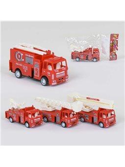 Машина пожарная 399-37 (960/2) 4 вида, инерция, 1шт в кульке [60273]