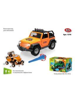 Машина-конструктор 1376 (48) Play Smart, свет, звук, в коробке [79470]