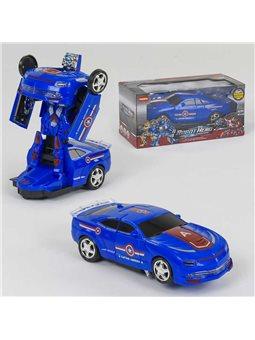 Машина-трансформер АТ 288 V (54/2) на батарейке, свет, звук, в коробке [80439]