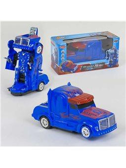 Машина-трансформер АТ 299 D (72/2) на батарейке, свет, звук, в коробке [80442]