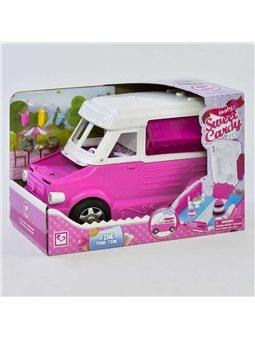 """Машинка для куклы К 899-51 (6) """"Магазин-Кондитерская"""", трансформируется, с аксессуарами, в коробке [75843]"""