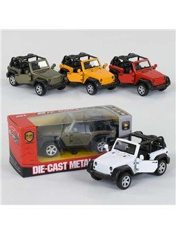 Машинка металлопластик SL 6615 (192) инерция, открываются двери, 4 цвета, 1шт в коробке [78254]