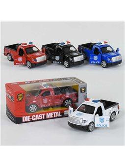 Машинка металлопластик Полиция SL 6604-1 (192) инерция, двери открываются, 4 цвета, 1шт в коробке [78253]