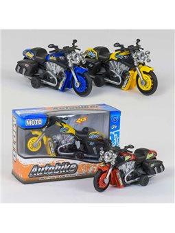 Мотоцикл 9965-1 А (240/2) 3 вида, инерция, свет, звук, 1шт в коробке [78679]