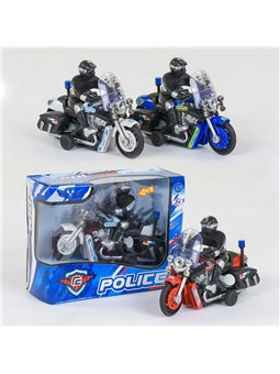 Мотоцикл 9968-1 А (192/2) 3 вида, инерция, свет, звук, 1шт в коробке [78681]