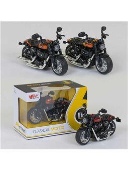 Мотоцикл металлопластик MY-66 M-1215 (168/2) 3 вида, свет, звук, в коробке [78896]