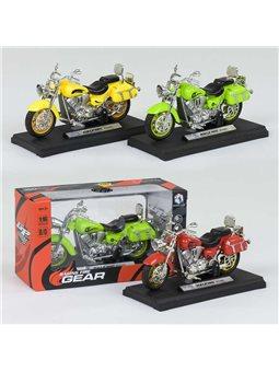 Мотоцикл металлопластик НХ 785 (240/5) 3 цвета, свет, звук, 1шт в коробке [78293]