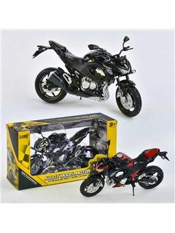 Мотоцикл металлопластик НХ 789-1 (144) 2 цвета, в коробке [72154]