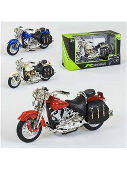 Мотоцикл металлопластик НХ 796 (144/2) 3 цвета, 1шт в коробке [78292]