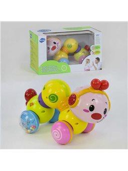 Музыкальная игрушка Гусеница 997 (36) мелодия, подсветка, в коробке [70013]