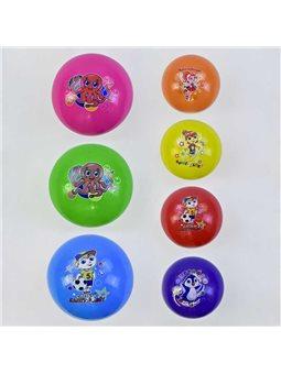 Мяч резиновый С 34560 (500) 7 цветов, 60 грамм [74530]