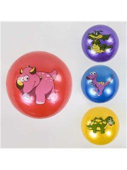 """Мяч резиновый С 37844 (300) 4 вида, перламутровый, размер 9"""", вес 90 грамм [79750]"""
