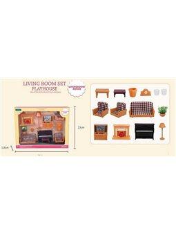 """Набор мебели для гостиной Т 02 (36) """"Счастливая семья"""", в коробке [82893]"""