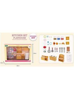 """Набор мебели для кухни Т 04 (36) """"Счастливая семья"""", в коробке [82899]"""