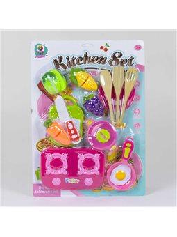 Набор посуды MJL 220 К (72/2) продукты на липучках, на листе [78698]