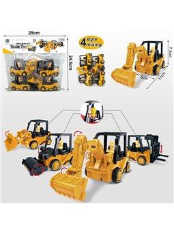 Набор тракторов 8802-6 (60/2) 4 штуки в кульке [82885]