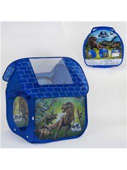 Палатка детская Динозавры Х 001 D (48) 112х102х114 см, в сумке [78974]