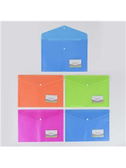 Папка для бумаг на кнопке С 36908 (40) /ЦЕНА ЗА УПАКОВКУ 12ШТ/ 4 цвета [77252]