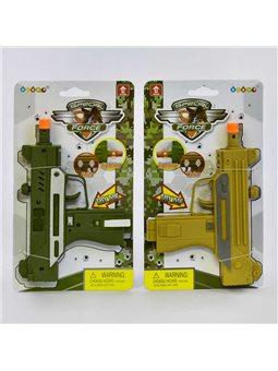 Пистолет 33910 (432/2) 2 вида, свет, звук, на листе [75147]