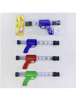 Пистолет пинг-понг 1055 (72/2) помповый, 3 цвета, в кульке [55635]