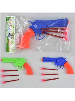 Револьвер с присосками 610-34 (840) 2 цвета, в кульке [67869]
