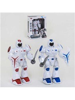 """Робот """"Робовоин Страж"""" 9891 (24) звуковые эффекты, подсветка, движение вперед, 2 цвета, в коробке [81820]"""