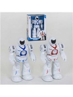Робот 6032 (24/2) 2 цвета, ходит, подсветка, звуковые эффекты, в коробке [82571]