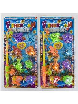 Рыбалка магнитная 1210-1 (72/2) 8 рыбок, 2 вида, на листе [56432]