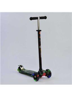 """Самокат А 25462 /779-1317 MAXI """"Best Scooter"""" (1) пластмассовый, 4 колеса PU, СВЕТ, трубка руля алюминиевая, d12см, в коробке [7"""
