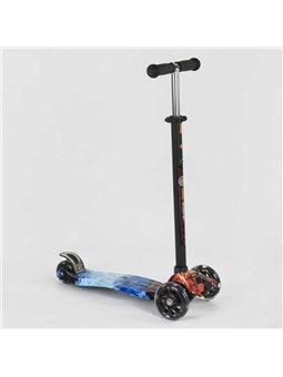 """Самокат А 25531 /779-1329 MAXI """"Best Scooter"""" (1) пластмассовый, 4 колеса PU, СВЕТ, трубка руля алюминиевая, d12см, в коробке [7"""