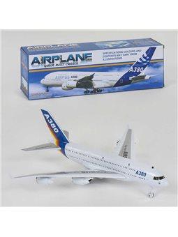 Самолёт 272-24 (84/2) заводной механизм, свет, звук, в коробке [80836]