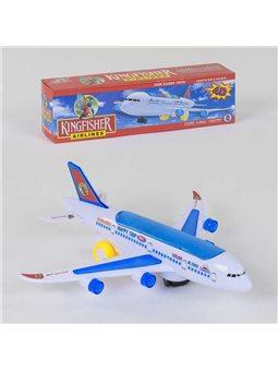 Самолёт А 380-600 KF (120) ездит, звуковые и световые эффекты, в коробке [71959]