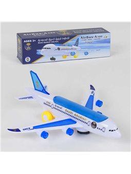 Самолёт А 380-600 SD (120/2) ездит, световые и звуковые эффекты, на батарейке, в коробке [78897]