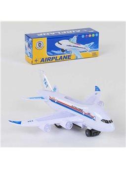 Самолёт А 380-900 (144) ездит, звуковые и световые эффекты, в коробке [73414]